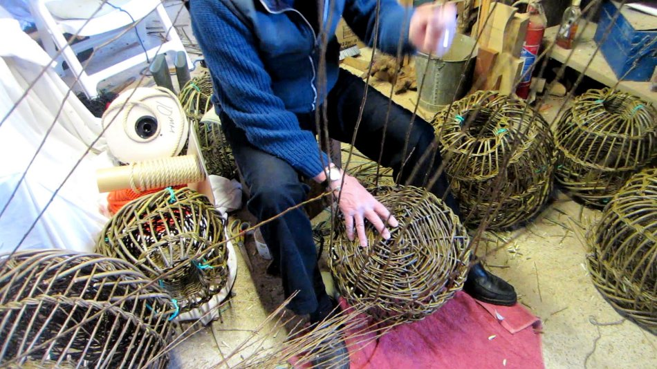 Traditional willow crab and lobster pots for sale
